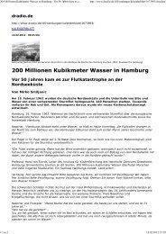 200 Millionen Kubikmeter Wasser in Hamburg ... - Hans von Storch