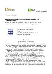 Bekendtgørelse af lov om sommerhuse og campering mv - HK