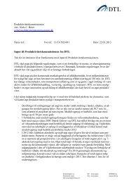 Input til Produktivitetskommissionen fra DTL