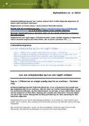 Nyhedsbrev nr. 1/2013 Lov om arbejdsmiljø og Lov om røgfri miljøer ...