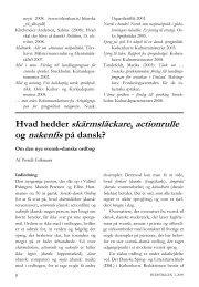 Hvad hedder skärmsläckare actionrulle og nakenfis på dansk