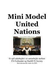MiniMUN Konferencefolder - FN-forbundet