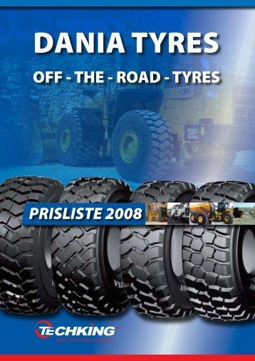 OFF G THE G ROAD G TYRES PRISLISTE 2008 - Velkommen til ...