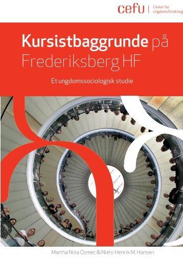 Kursistbaggrunde på Frederiksberg HF - Center for Ungdomsforskning