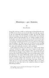 Historiesyn – syn i historien - Historisk Tidsskrift