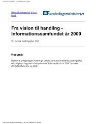 Fra vision til handling - info-samfundet år 2000 - ePractice.eu