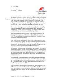 Rapporten analyserer udviklingen i den danske og svenske ...