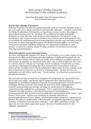 Bedre styring af offentlige IT-projekter – Om ... - Teknologirådet