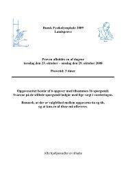 Dansk Fysikolympiade 2009 Landsprøve Prøven afholdes en af ...
