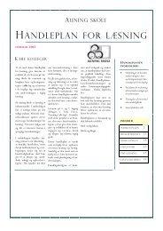 120307 Handleplan for læsning - den endelige ... - Auning Skole
