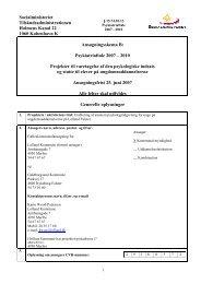 Oprindelig projektansøgning for projektet - Guldborgsund Kommune