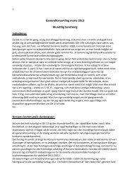 Generalforsamling marts 2013 Mundtlig beretning Indledning ...