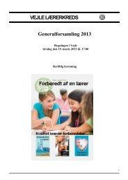 Skriftlig beretning 2013 - Danmarks Lærerforening - kreds 113