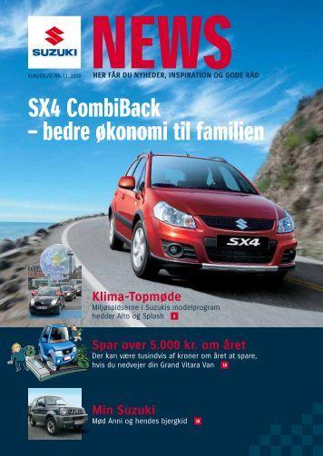 SX4 CombiBack – bedre økonomi til familien - Suzuki.dk