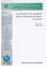 Smoltifisering hos laks og sjøørret: effekt av ulike ... - NINA