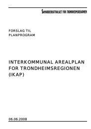 20-08 Planprogram IKAS - Trondheimsregionen