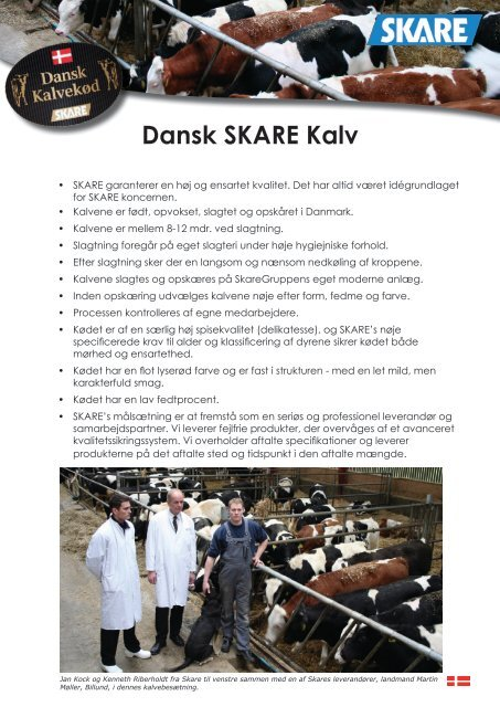 Dansk SKARE Kalv - Skare Meat Packers
