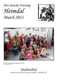 March 2013 - The Danish Club in Brisbane, Australia