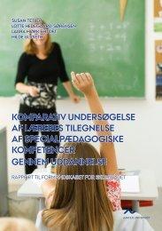 Komparativ undersøgelse af læreres - Institut for Uddannelse og ...