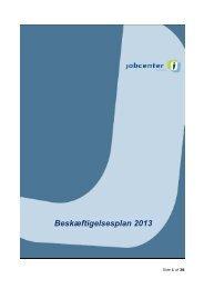 Beskæftigelsesplan 2013 - Aarhus.dk