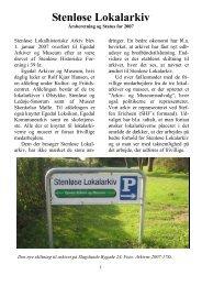 Årsberetning 2007 A5 - Stenløse Lokalarkiv