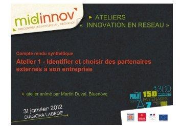 Atelier 1 - Midi-Pyrénées Innovation