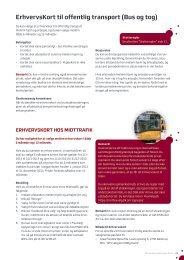 ErhvervsKort til offentlig transport (Bus og tog) - Region Midtjylland