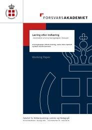 Læring eller indlæring.indd - Forsvarskommandoen