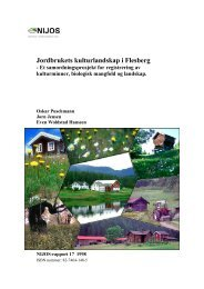 Jordbrukets kulturlandskap i Flesberg - Skog og landskap