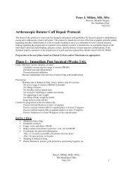 Arthroscopic Rotator Cuff Repair Protocol: Phase I ... - Dr. Peter Millett