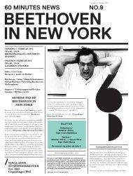 60 minutes of Beethoven in New York avis / 7. - Copenhagen Phil