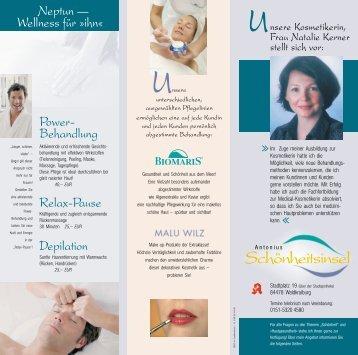 """Besuchen Sie unsere """"Schönheits-insel"""" - Kosmetik und Pflege"""