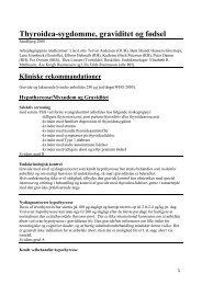 Thyroidea-sygdomme, graviditet og fødsel - DSOG