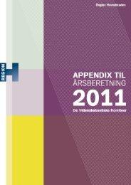 Appendix til årsberetning 2011 - Region Hovedstaden