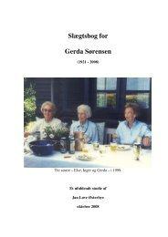 Slægtsbog for Gerda Sørensen - Jan Løve Østerbye