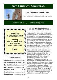 Sogneblad 2010-1 - Sankt Laurentii Kirke