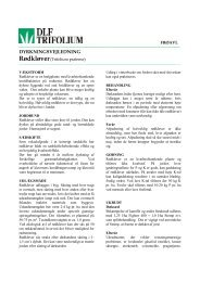 DYRKNINGSVEJLEDNING - DLF-TRIFOLIUM Group