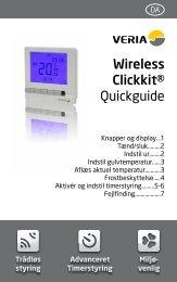 Installationsvejledning - Veria Wireless Clickkit