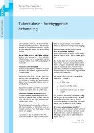 Tuberkulose - forebyggende behandling - EPIS - Gentofte Hospital