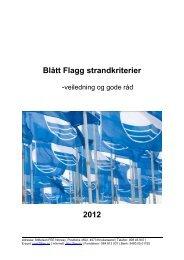 Blått Flagg strandkriterier 2012 - Aeston