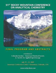 July 19 – 23, 2009July 19 – 23, 2009 - Rocky Mountain Conference