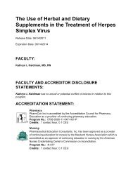 The Use of Herbal and Dietary Supplements in the Treatment of ...