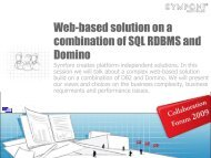 Web-based solution on a combination of SQL RDBMS and ... - Symfoni