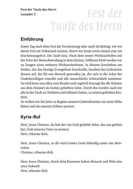 Fest Der Taufe Des Herrn 7 1 2007 Schwabenverlag