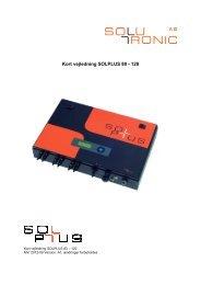 Kort vejledning SOLPLUS 80 - 120 - Solutronic AG