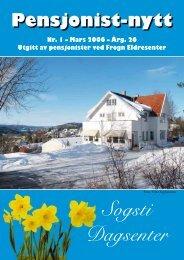 Sogsti Dagsenter - Pensjonist-nytt