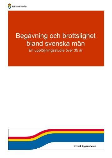 Begåvning och brottslighet bland svenska män - Kriminalvården