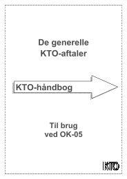 De generelle KTO-aftaler KTO-håndbog