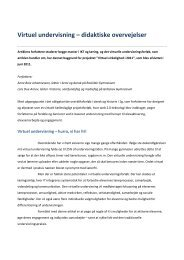 Virtuel undervisning Dansk Noter 2011 nr 3