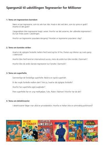 Spørgsmål til udstillingen Tegneserier for Millioner - Emu